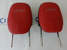 2010-14 Camaro SS Inferno Orange Headrest Set of 2 Pair RH & LH GM 92246225 NEW