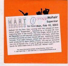 (EJ759) Mohair, Superstar - 2003 DJ CD