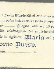 PUGLIA_BARI_TERLIZZI_MARINELLI_DURSO_ANTICO BIGLIETTO DI INVITO_PER NOZZE_1911