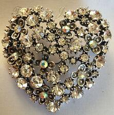 Especial De Verano Vintage Corazón Broche Pastel Pin con impresionante Brillantes Reutilizables Todo