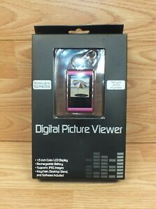 "Pink 1.5"" Color LCD Digital 50 Photo JPEG Picture Viewer Keychan (056 13 0710)"
