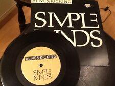 "SIMPLE MINDS . ALIVE & KICKING . NEAR MINT 7"" VINYL SINGLE . CLASSIC 1980's"
