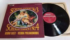 SCHUMANN SOLTI VPO LP SYMPHONY NO. 3 & 4 LONDON CS 6582 VG STEREO
