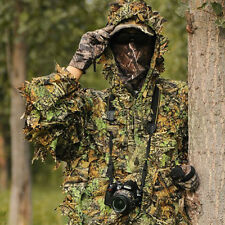 Pratical Camo Camouflage Clothing Leafy Woodland Hunting Camo Jungle Suit Kit EK