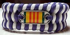"Vietnam Service Ribbon ""Purple Ribbon"" Style Trilobite Weave Paracord Bracelet"