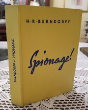 1920's German book Spionage H R Berndorff World War I Secret Service