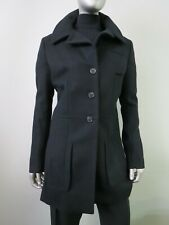 JIL Sander Made in Italy Runway style black cashmere blend four button coat 42