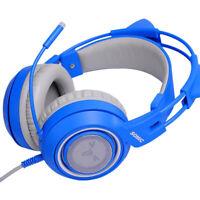 Universal kinder verdrahtet über ohr headset 3,5mm stirnband bass für telefon