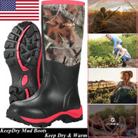 HISEA Women's Hunting Boots Breathable & Insulated Rubber Muck Mud Working Boots