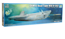 TRUMPETER 06801 U-Boot Typ VII C U-552 1:48 , Länge: 139,8 cm