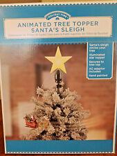 New Santa's Sleigh Animated Tree Topper