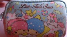 Hello Kitty's Sanrio Little Twin Stars Small Zippered Pouch Pink/Blue Kiki Lala