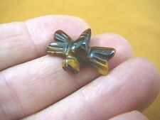 "Y-Drag-503) 1"" Tigereye flying Dragonfly gemstone Figurine gem carving insect"