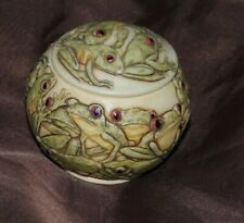 Jardinia Frog Trinket Box Small Round Container