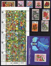 fleurs thématique Collection de timbres excellent état d'Occasion Ref: ts154