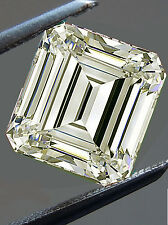1.48ct VVS1/8.28mm GENUINE OFF WHITE COLOR EMERALD LOOSE REAL MOISSANITE 4 RING