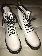 White Patent Doc Dr Martens Boots Size 6.5 Ladies New