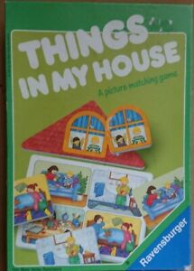 Rare Ravensburger Things in My House Picture Matching Game (1993)