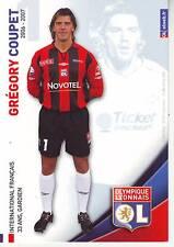 FOOTBALL carte joueur GREGORY COUPET équipe  LYON