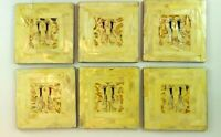Mother of Pearl and Abalone Boxed Set of 6 Drink Coasters Handcrafted Barware