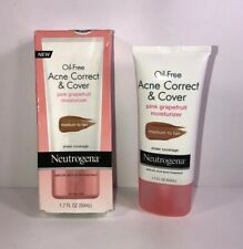 Neutrogena Oil-Free Acne Correct Cover MEDIUM TO TAN Moisturizer 03/19 New