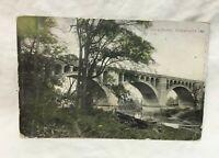 *1908 Big 4 Bridge GREENCASTLE INDIANA Postcard