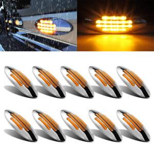 10x 24 LED Side Marker Amber Lights for Freightliner Peterbilt Truck Cab Sleeper