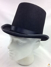 Black Top Hat Costume Mad Hatter Party Fancy Dress Magician Formal Trilby Fedora