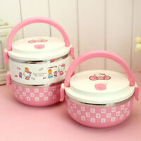 Hello Kitty 2 Layers Stainless Steel Thermal Insulated Lunch Box Food Container
