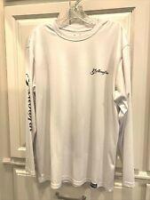 Men's L Long Sleeve Fishing Shirt Yellowfin Gear White 100% Polyester Pelagic