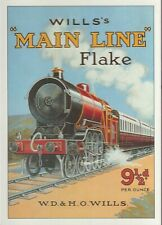 Will's Main Line Flake, Unused Postcard - Reproduction Advertisement