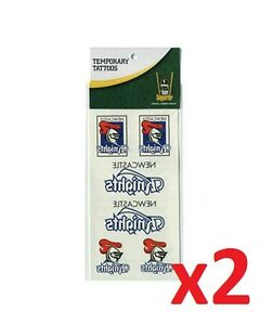 Official NRL Newcastle Knights Temporary Team Tattoo Sheet Packs x2