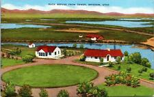 Brigham UT Duck Refuge from Tower Postcard unused 1930s/40s (7111)