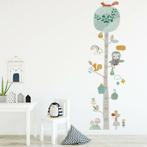 Wandaufkleber Messhöhe Nette Tiere Wandtattoo Kinderzimmer