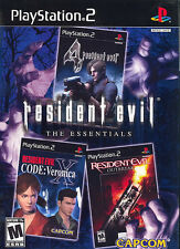 Resident Evil: The Essentials PS2 New Playstation 2