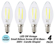 4 x LED 2W Vintage Candle Filament Light Globes Bulbs Lamps E14 Small Screw Cool