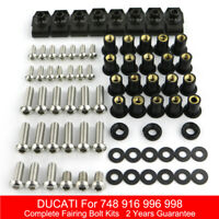 Complete Fairing Bolt Kit Body Screws Fit For Ducati 748 916 996 998 All Years