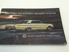 Ford Galaxie 500 Station Wagon 1962 Registered Owners Manual  NOT A REPRODUCTION
