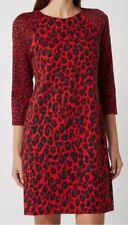 Taifun Lipstick Jungle Long Sleeved Midi Dress Red BNWT UK 10 RRP £110