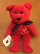 "Arty The Heart Bear Bean Bag Plush 8"""