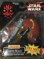 STAR WARS: EPISODE I; DELUXE DARTH MAUL ACTION FIGURE - 1998 - HASBRO - MOC