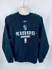 Reebok Sacramento Kings Mens Sweater Pullover Black Size Medium NBA