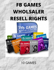 10 FACEBOOK GAMES TO BE A  WHOLESALER RESELL RIGHTS