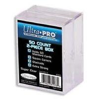 (2-Pack) Ultra Pro 2 Piece Plastic Storage Box (50 Count Size) Slider Box