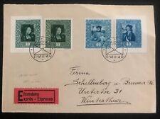 1949 Vaduz Liechtenstein Express cover To Winterthur Switzerland Sc#227-230 Impe