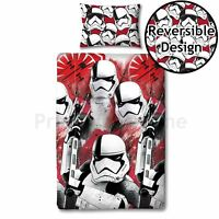 STAR WARS SINGLE DUVET COVER EPISODE VIII TROOPER LAST JEDI NEW