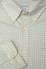 J. Crew Men's Beige & Khaki Check Cotton Casual Shirt L Large
