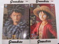 "Banpresto One Piece Grandista figure ""Luffy & Law"" 2 set Japan F/S NEW"