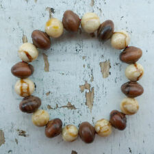 (eVB1002)  Stretch Bracelet made from Genuine Sea Coral & Ironwood Stigi beads
