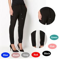 Trendy Women's Summer Chiffon Loose Elastic Harem Pants Casual Sports Trousers